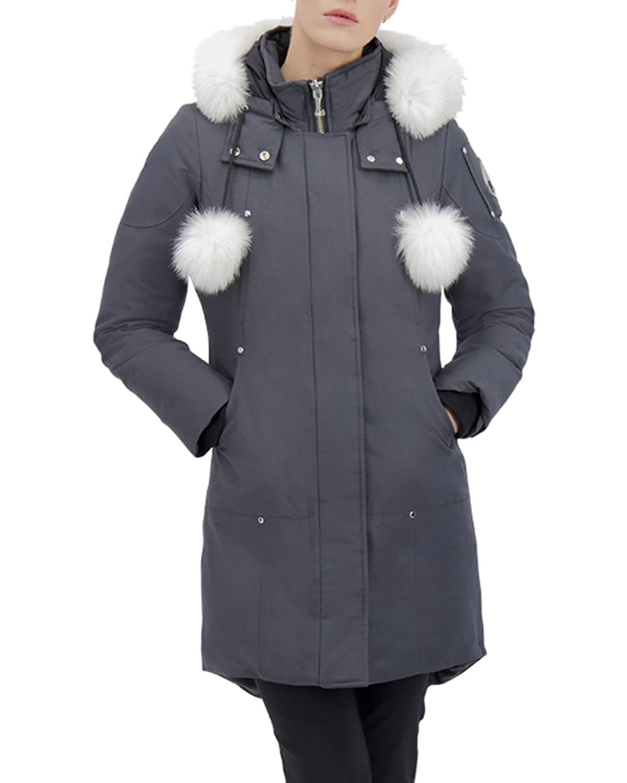 Stirling Hooded Parka Jacket w/ Fur Collar