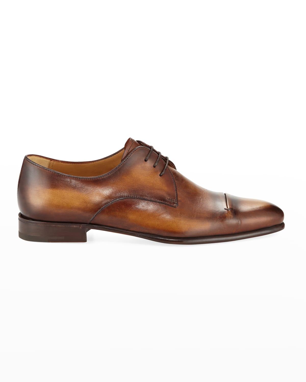 Gaspard Slash-Toe Leather Shoe