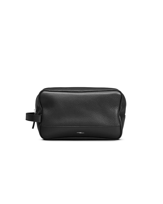 Men's Leather Zip-Top Travel Kit
