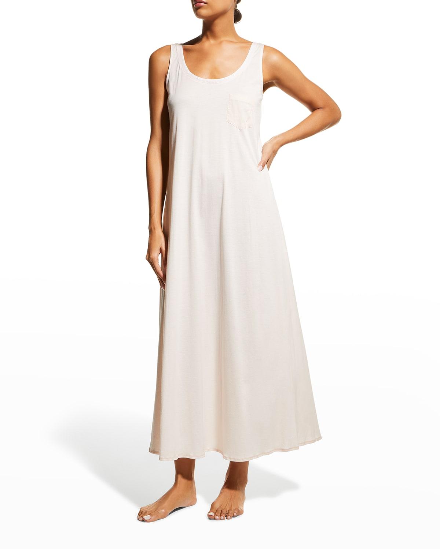 Long Cotton Tank Nightgown