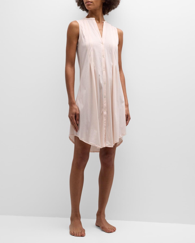 Cotton Deluxe Sleeveless Shirtwaist Nightgown