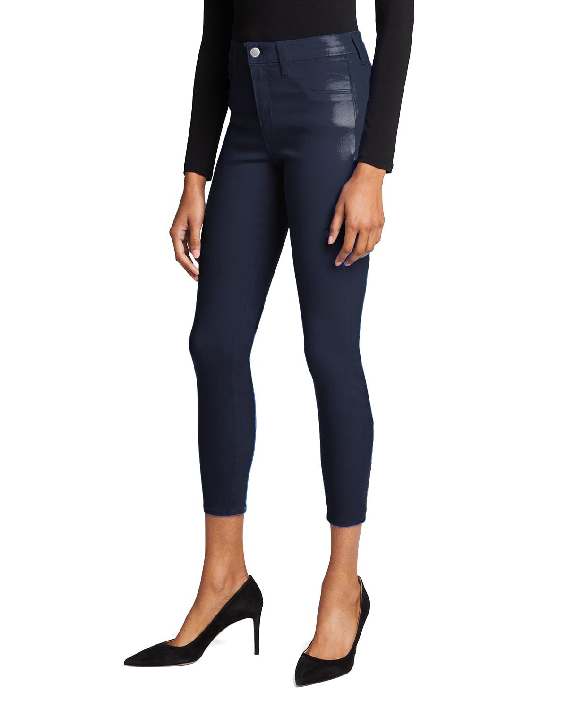 Margot High-Rise Coated Skinny Jeans