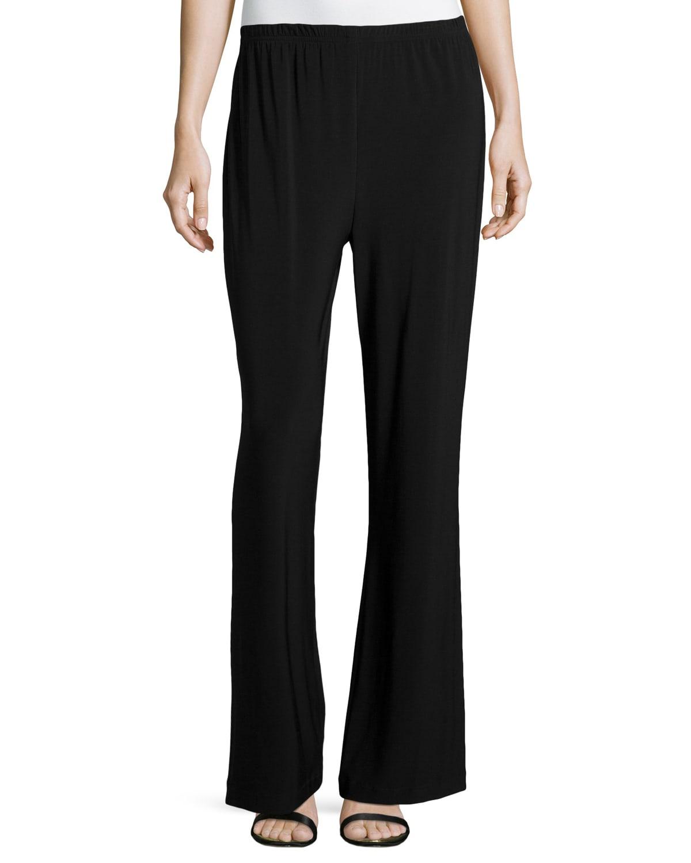 Plus Size Stretch-Knit Wide-Leg Pants