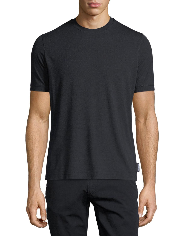 Basic Short-Sleeve Solid Crewneck T-Shirt