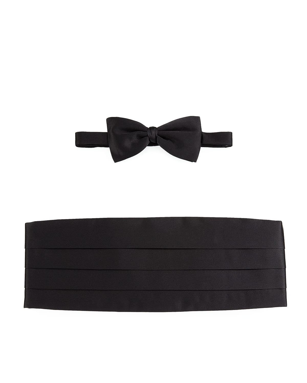 Silk Cummerbund %26 Bow Tie Set