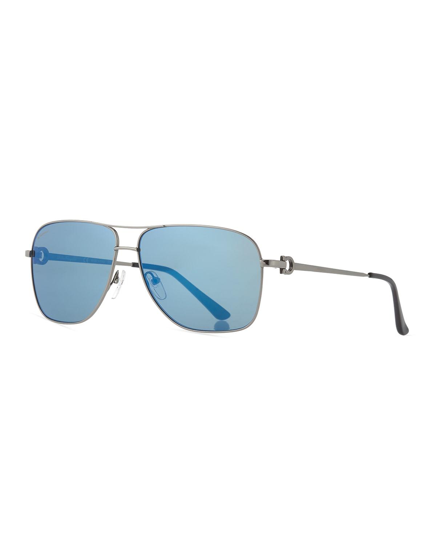 Men's Signature Metal Navigator Sunglasses