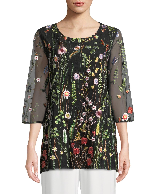 Garden Walk Embroidered Layered Tunic