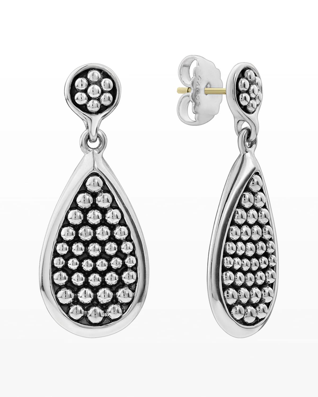 Bold Caviar Teardrop Earrings