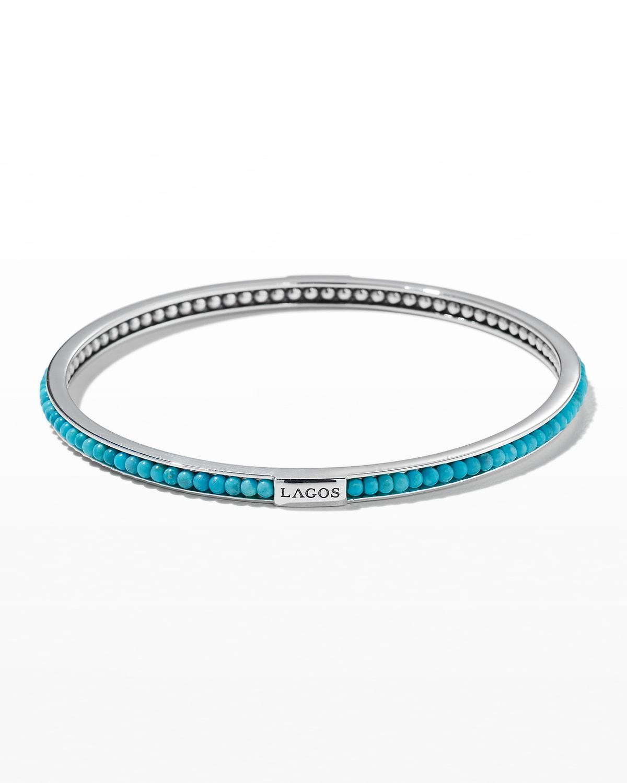 Caviar Icon Beaded Stone Bangle Bracelet