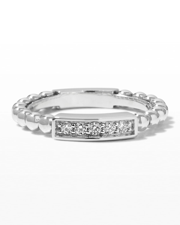 Caviar Spark Diamond Station Stack Ring