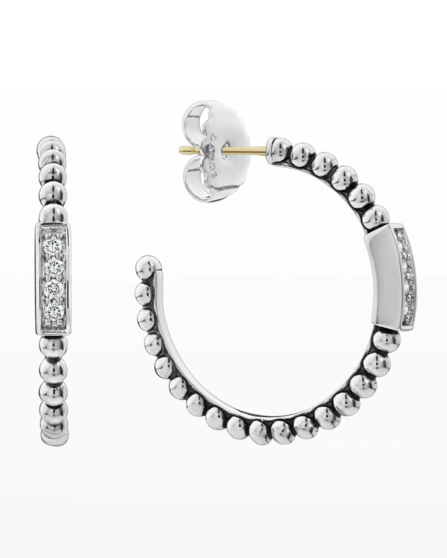 Caviar Spark Diamond Hoop Earrings