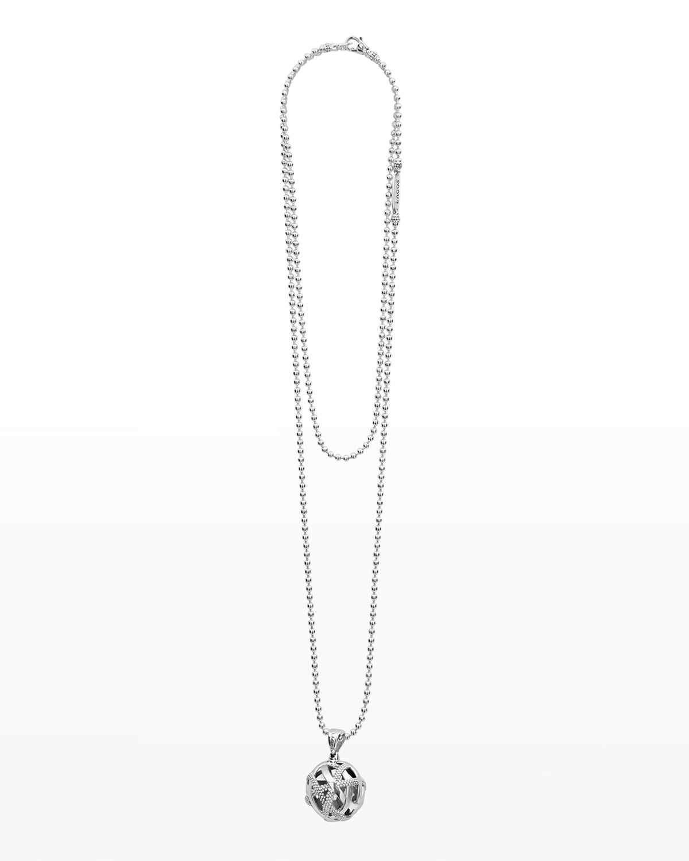 Caviar Talisman Woven Knot Necklace