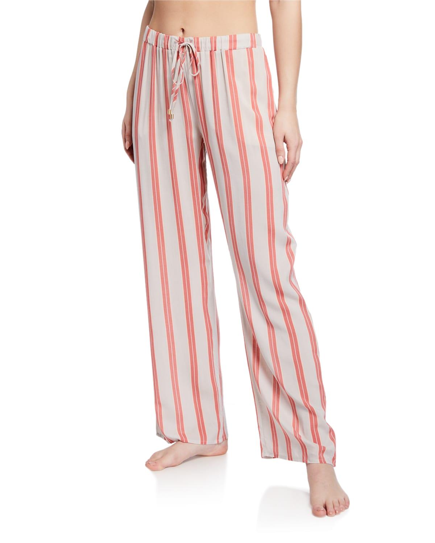 Abstract Brushstroke Woven Pajama Pants