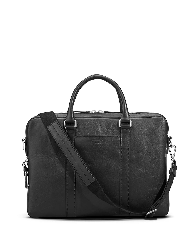 Men's Slim Leather Computer Briefcase