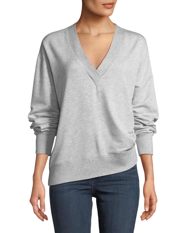 Flora V-Neck Long-Sleeve Pullover