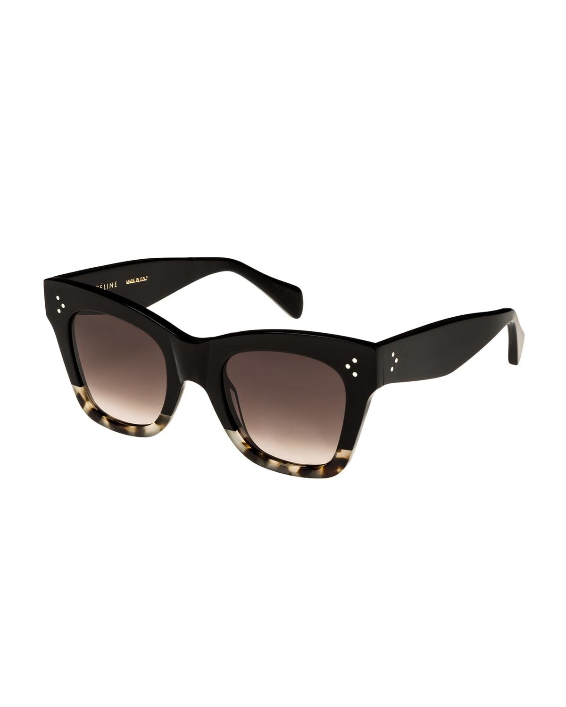 Two-Tone Gradient Cat-Eye Sunglasses