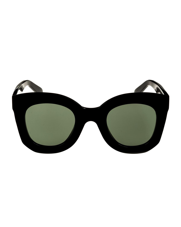 Chunky Round Acetate Sunglasses