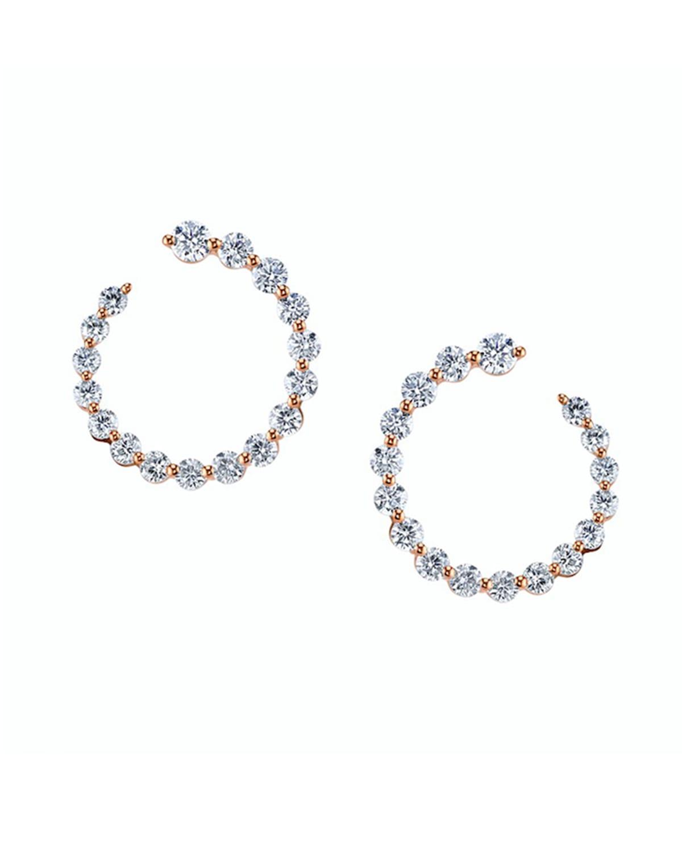 18k Rose Gold Garland Ear Diamond 2.74 C