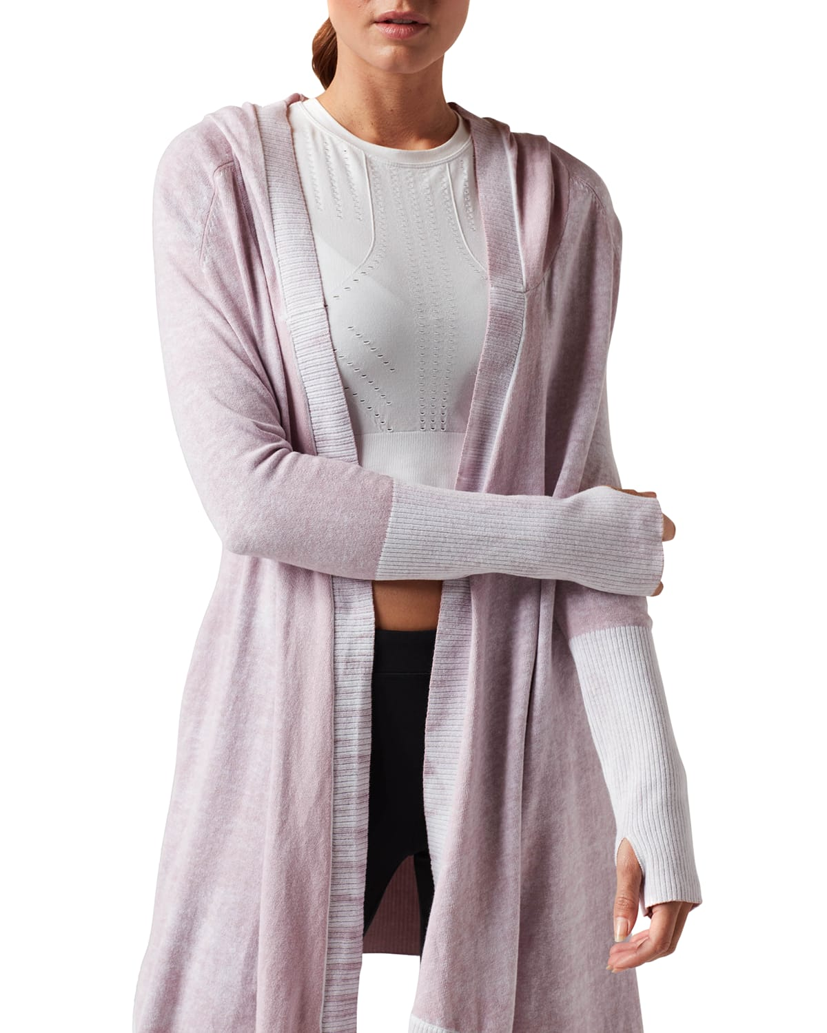 Huntress Hooded Open-Front Cardigan