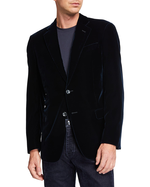 Men's Velvet Two-Button Sport Coat