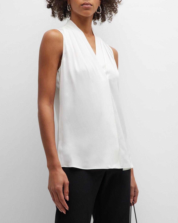 Mila Silk-Stretch Sleeveless Top