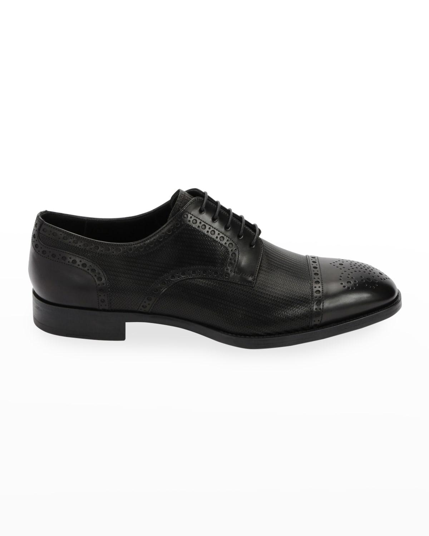 Men's Calf Leather Brogue Derby Shoe