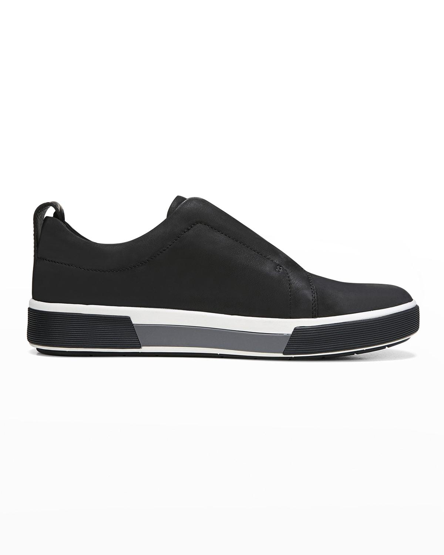 Men's Ranger Nubuck Leather/Canvas Slip-On Low-Top Sneakers