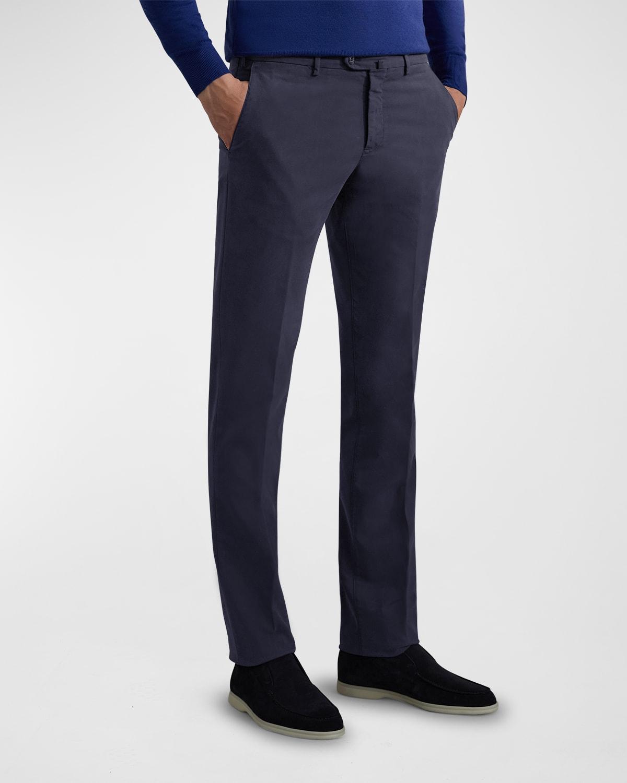 Men's Flat-Front Slim-Fit Pants