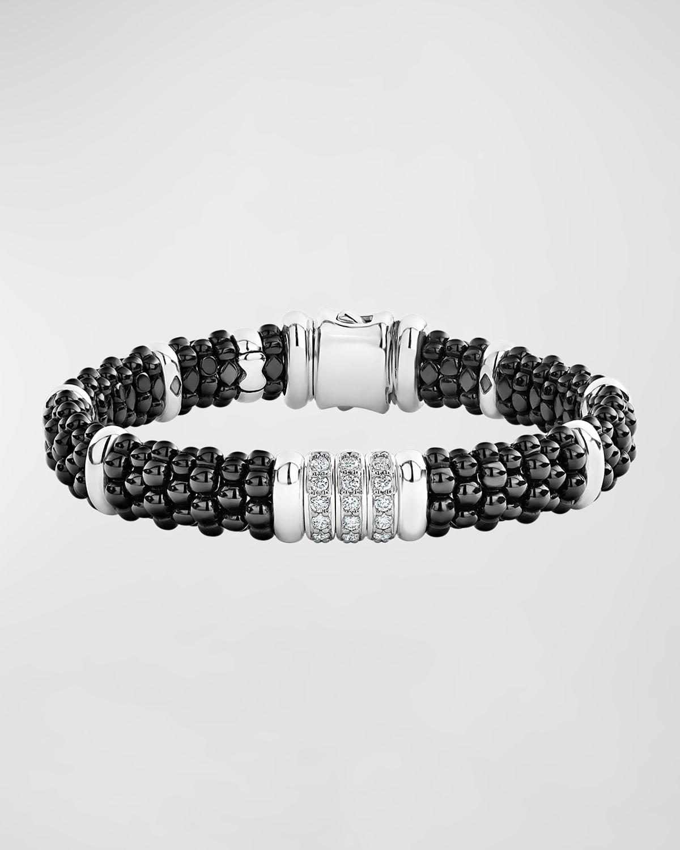 Black Caviar Diamond 3-Link Bracelet