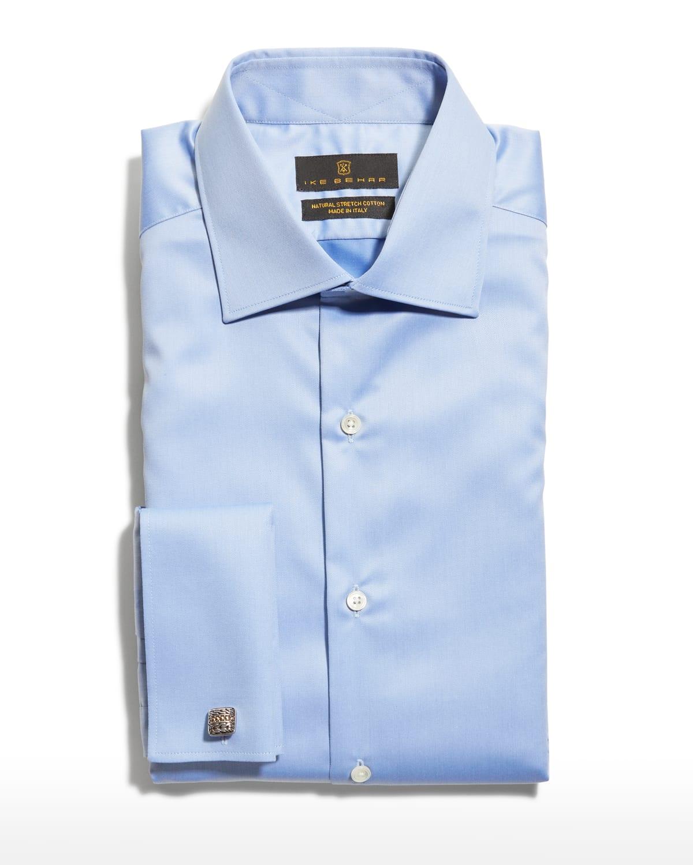 Men's Marcus French-Cuff Twill Dress Shirt