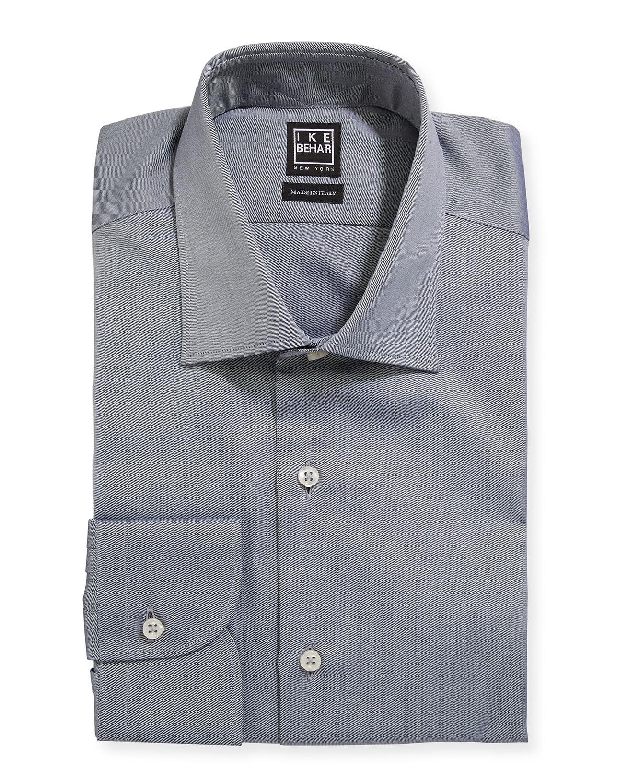 Men's Marcus Twill Barrel-Cuff Dress Shirt