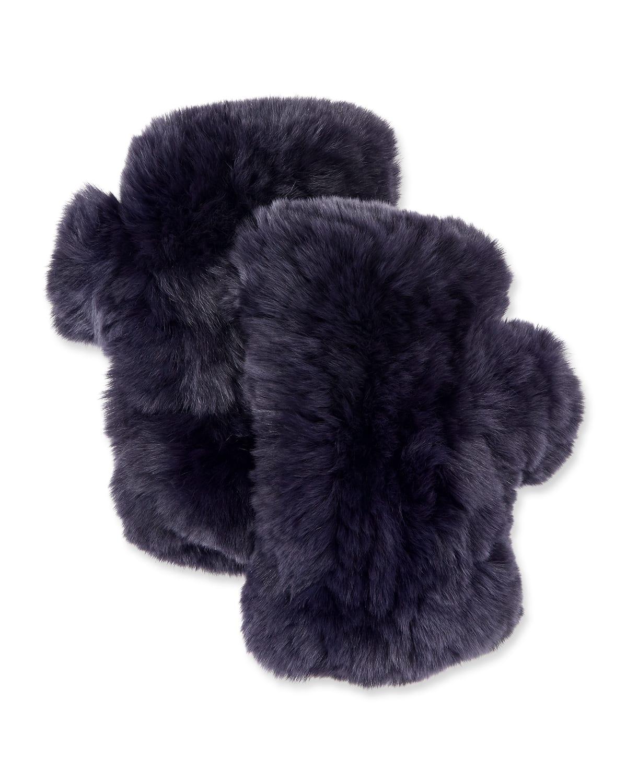 Fingerless Fur Mittens