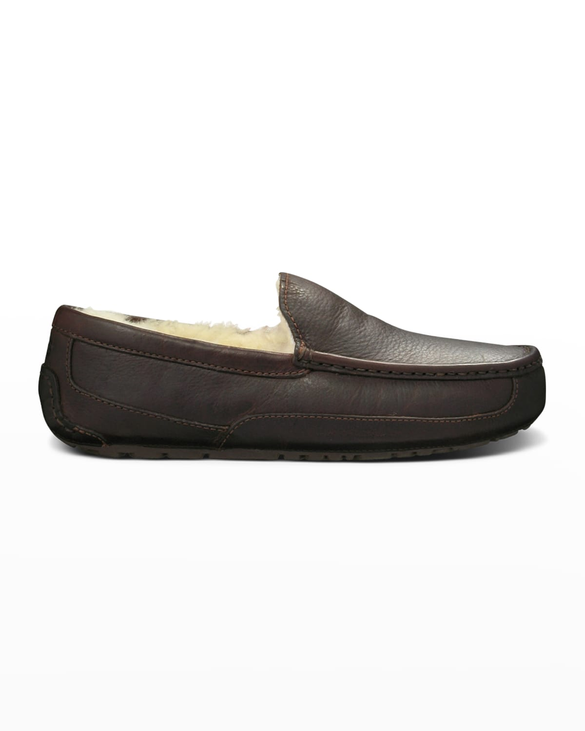Men's Ascot Water-Resistant Leather Slippers