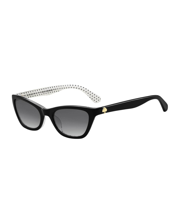 johnetas polka-dot cat-eye sunglasses