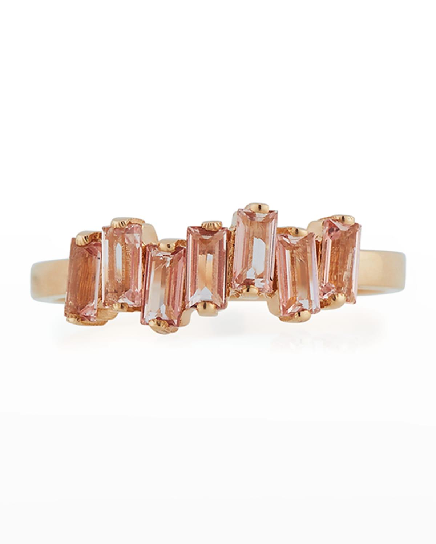 14k Rose Amalfi Wave Band Ring