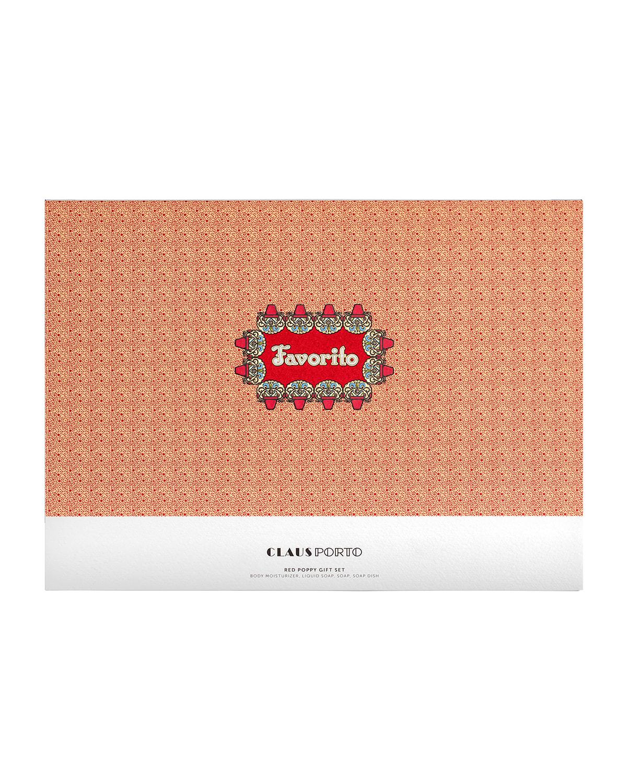 FAVORITO Liquid Soap+Body Moisturizer+Soap Gift Set