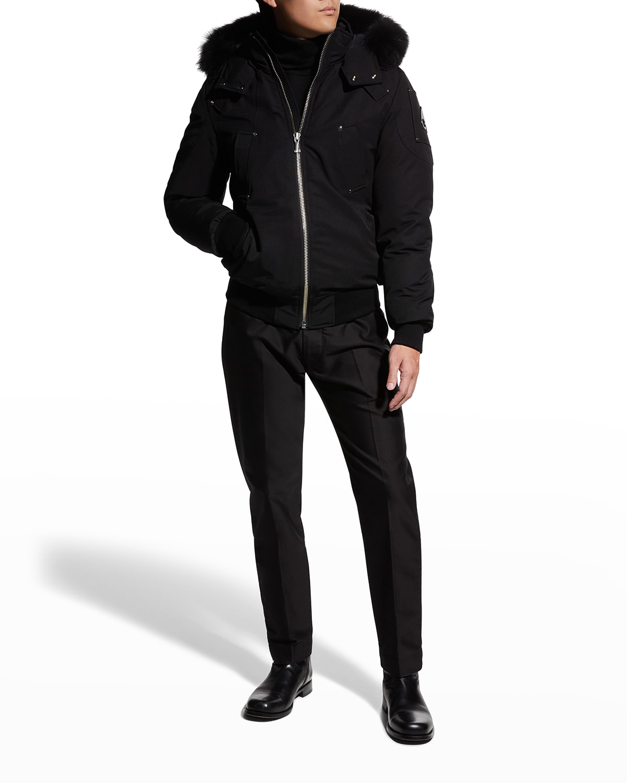 Men's Ballistic Bomber Jacket w/ Fur Trim