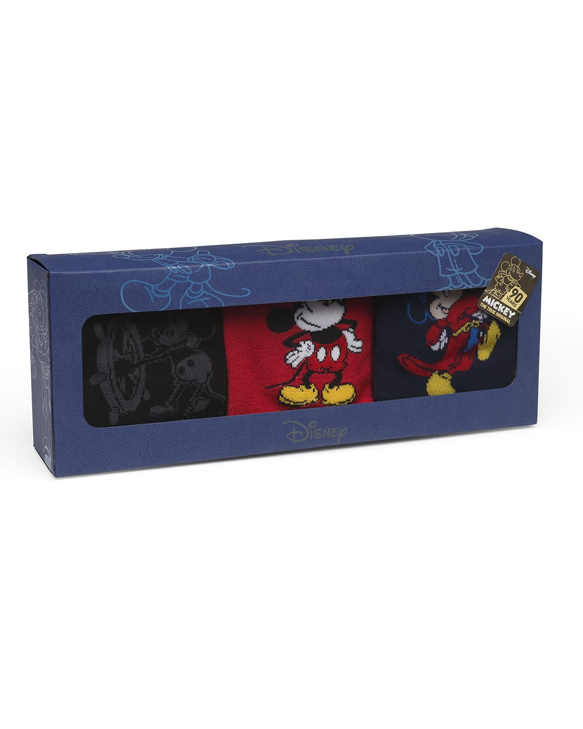 Men's 90th Anniversary Mickey Mouse Disney Socks in 3 Pack
