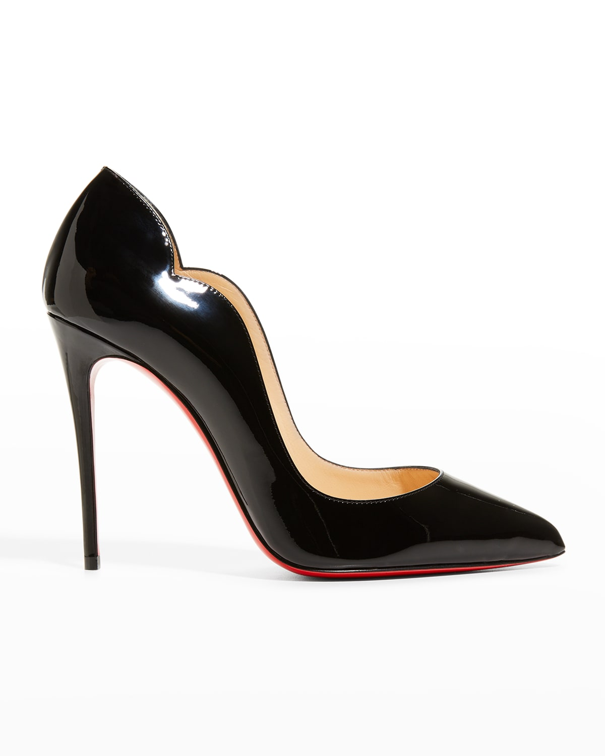 Hot Chick 100 Patent Red Sole High-Heel Pumps