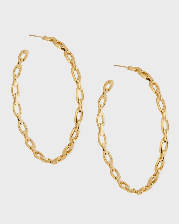 Carmine Link Hoop Earrings