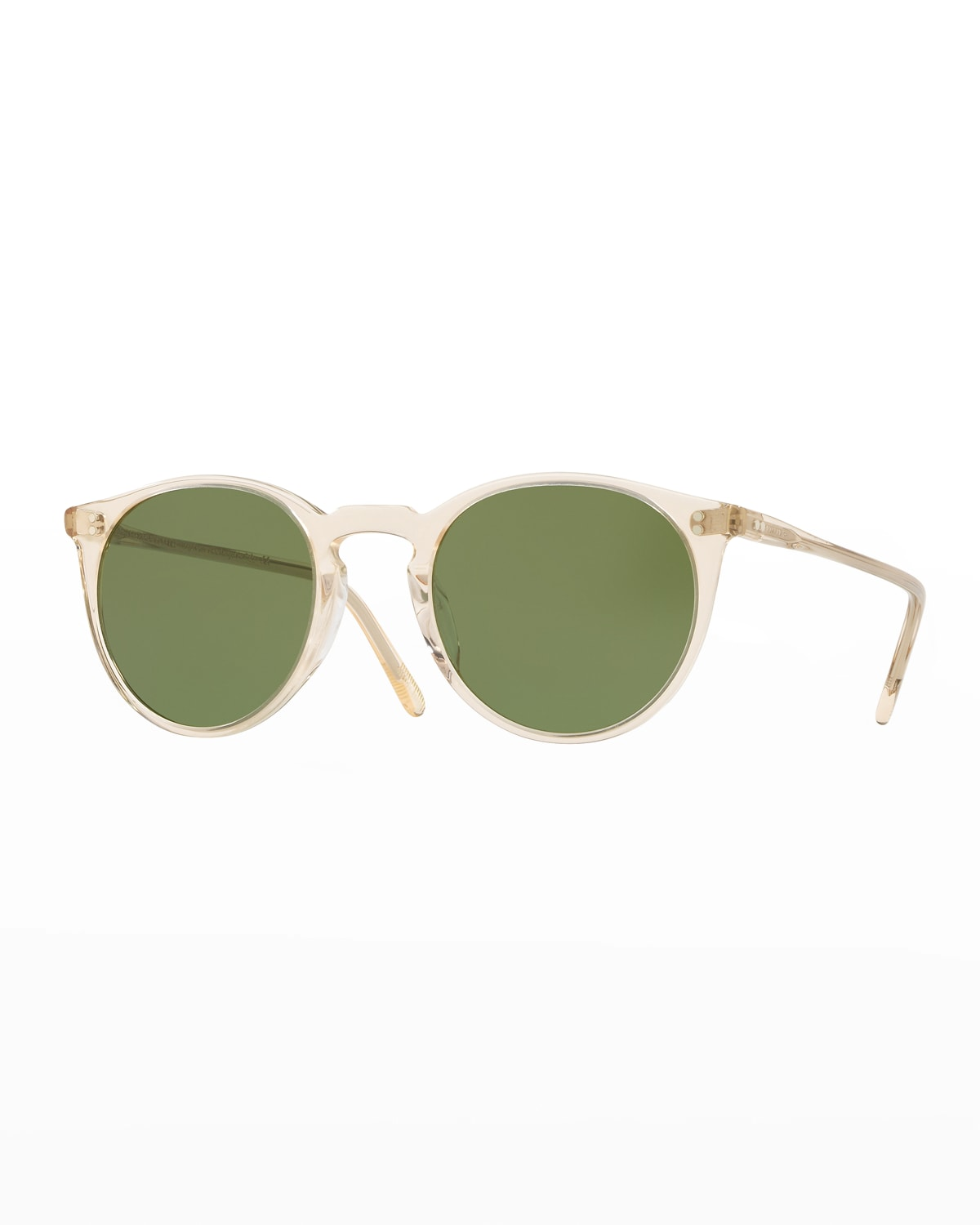 Men's O'Malley Peaked Round Sunglasses with Mineral Glass Lenses