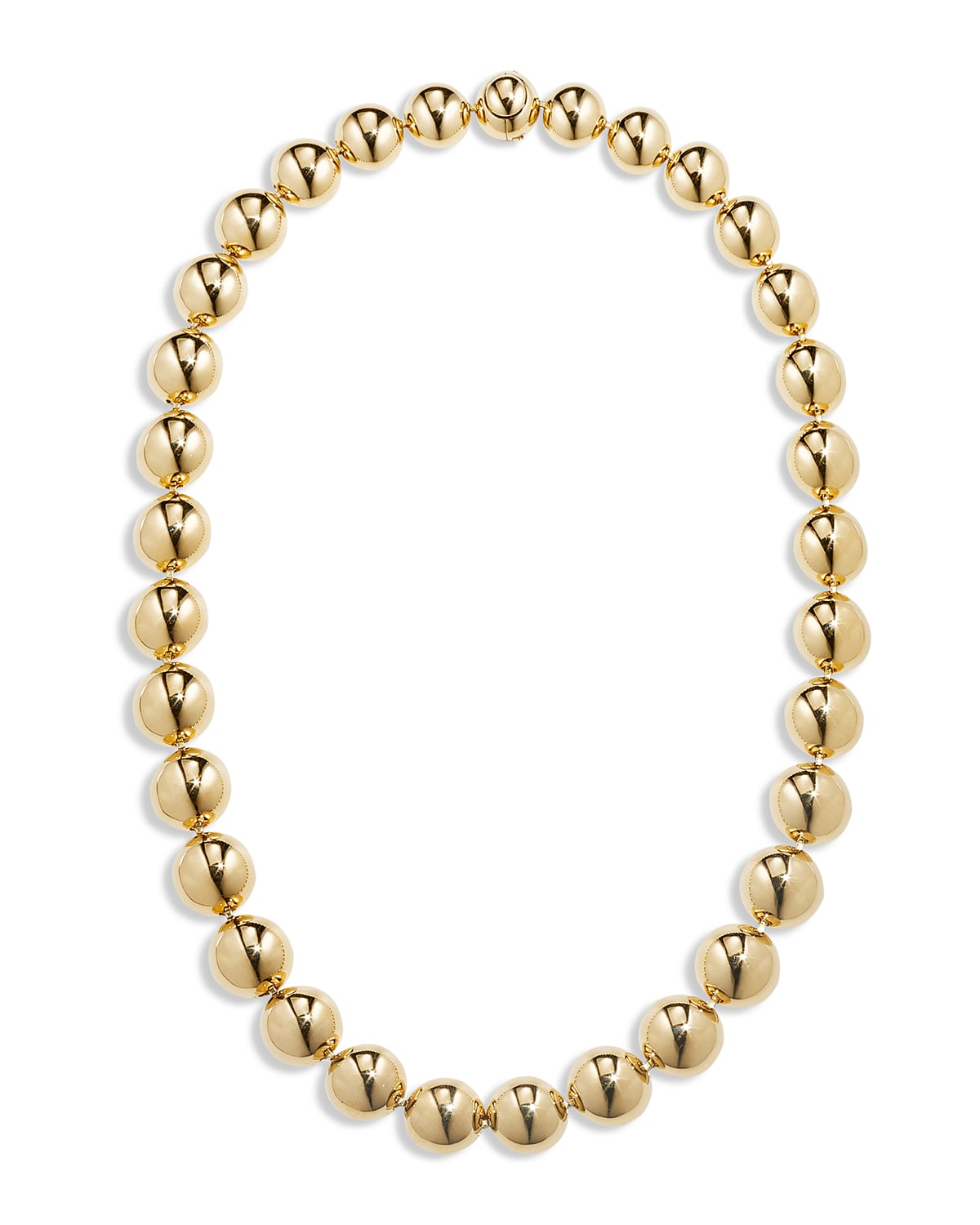 18k Gold Bead Necklace