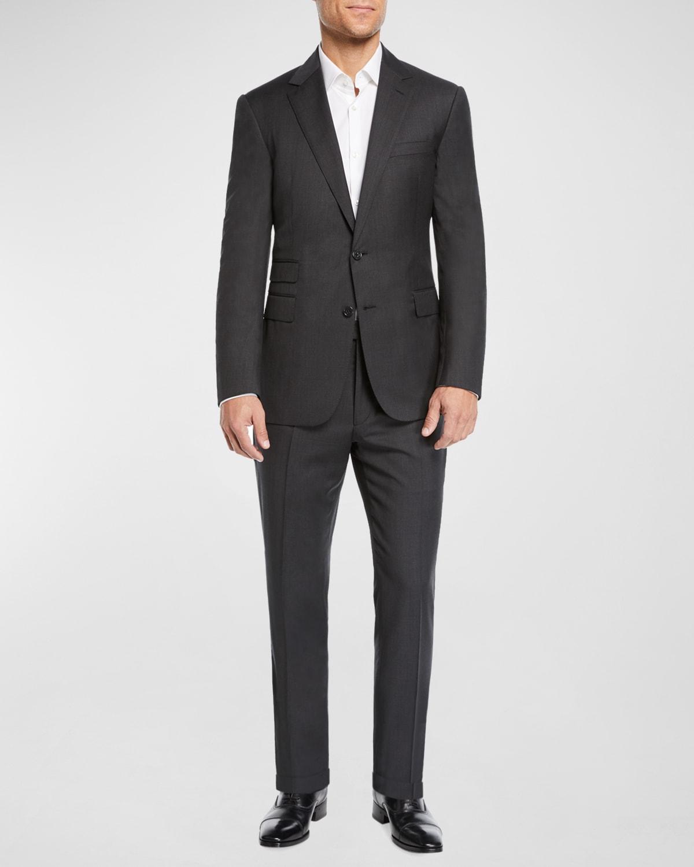 Men's Two-Piece Basic Wool Suit