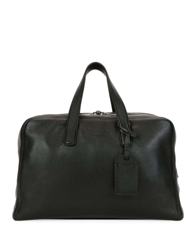 Men's Deer Leather Carryall Duffel Bag
