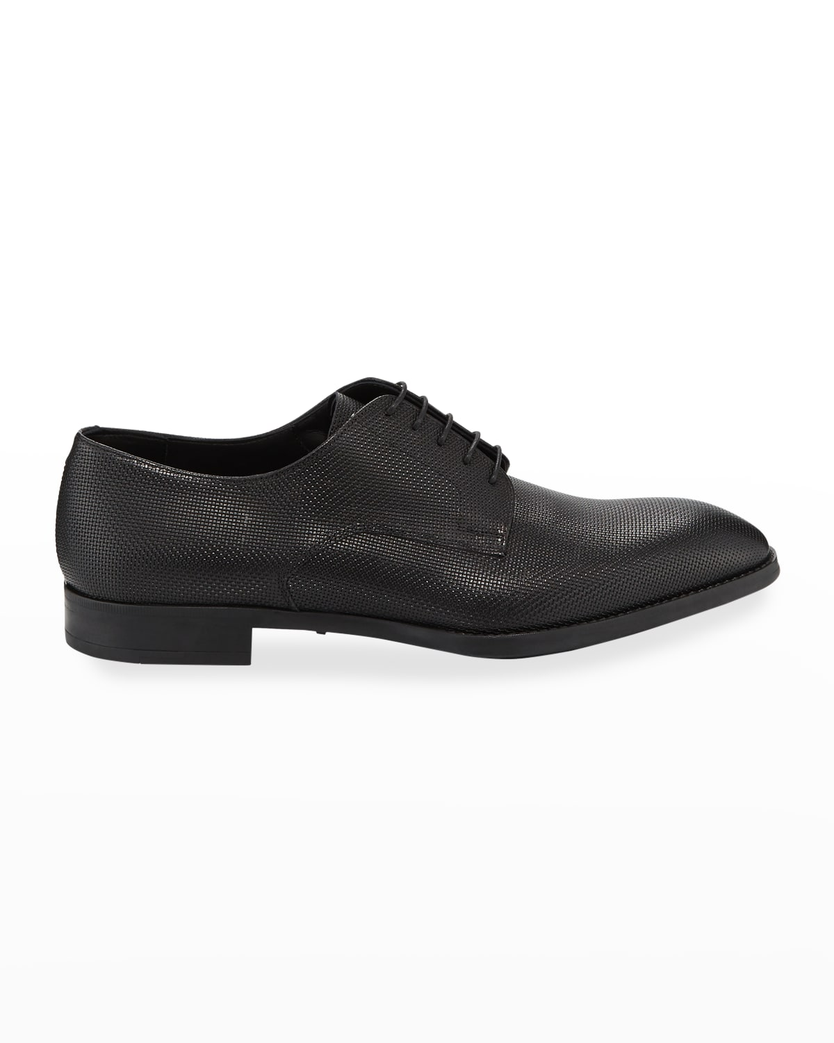Men's Textured Leather Derby Shoes