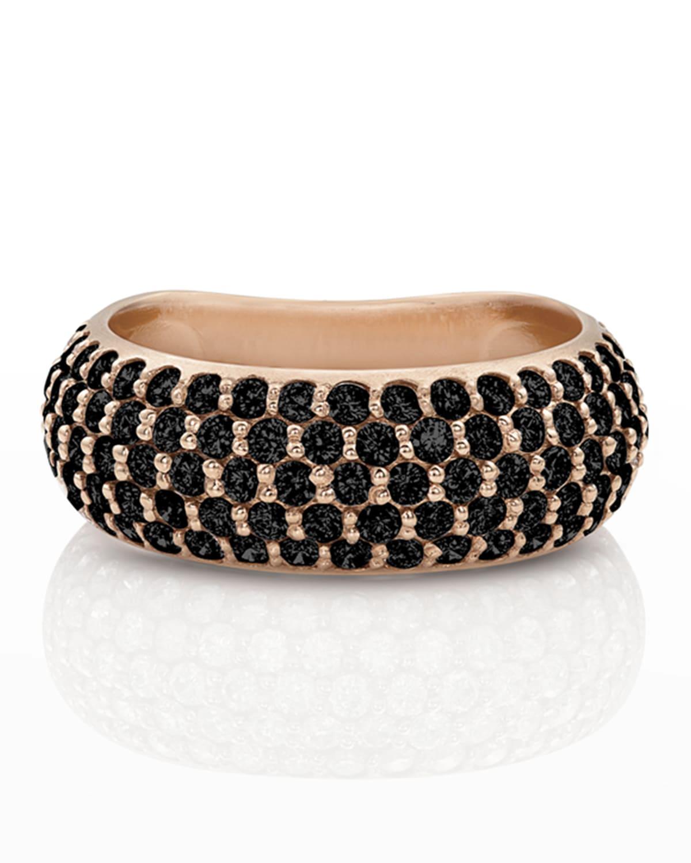18k Rose Gold Black Diamond Ring