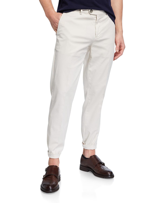 Men's Flat-Front Twill Pants
