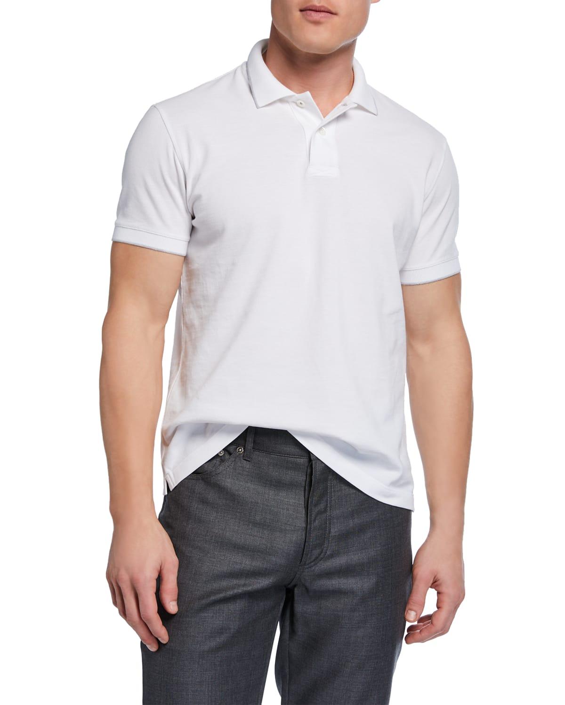 Men's Solid Pique Polo Shirt