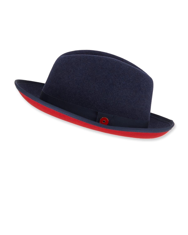 King Red-Brim Wool Fedora Hat