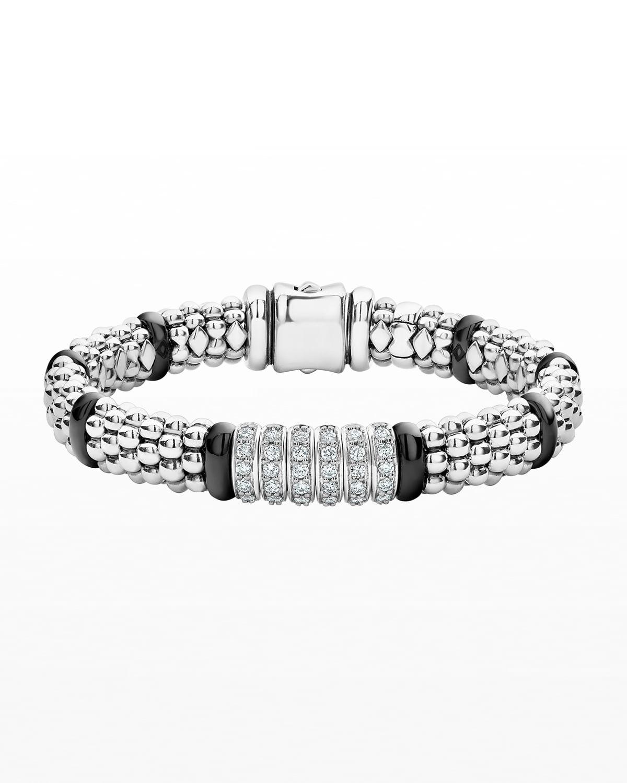 Black Caviar 6-Diamond Station Bracelet
